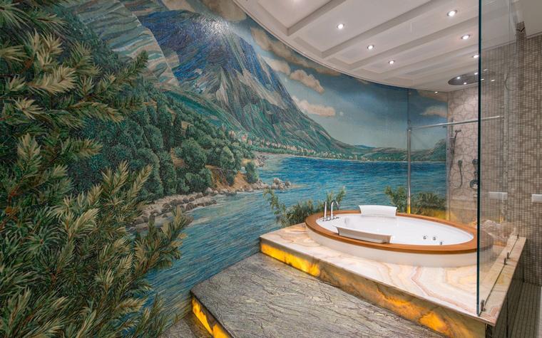 Роспись стен ванной комнаты
