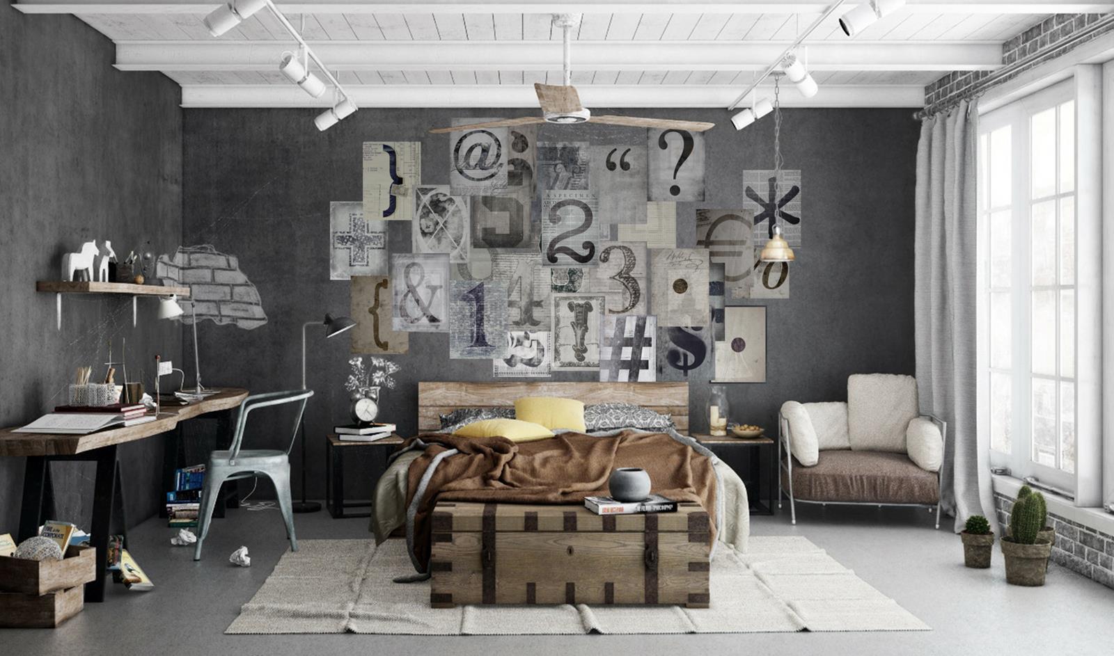 Роспись стен в стиле лофт
