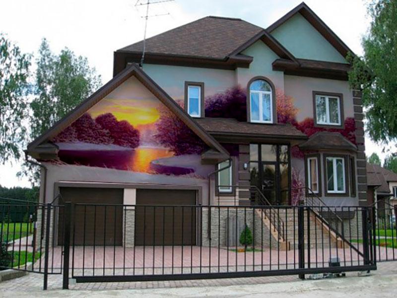 Художественная роспись фасадов домов и зданий