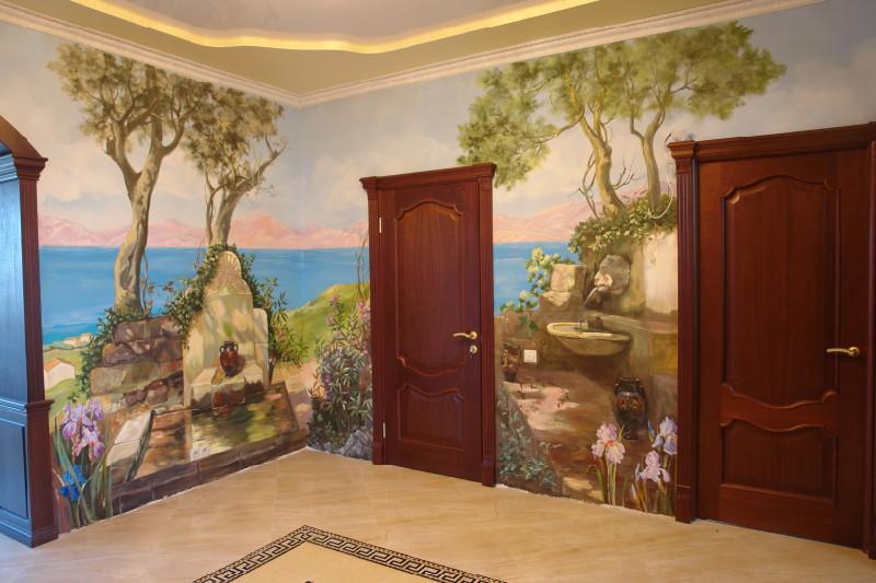 Роспись стен в коридоре или прихожей